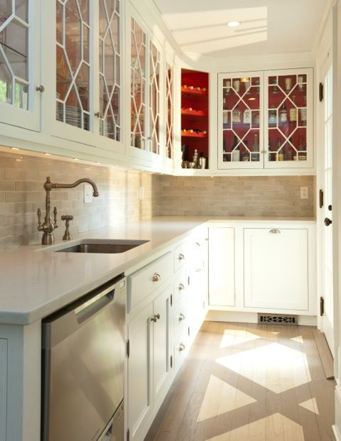 Bon Love The Chippendale Inspired Cabinetry Fronts In This Butleru0027s Pantry  ...and Red Interior? Iu0027m In Heaven!