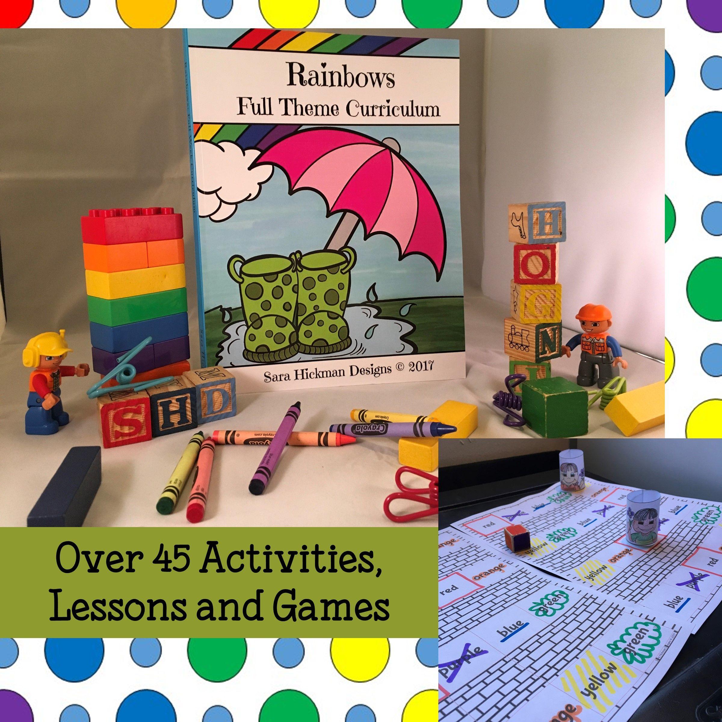 Play Based Rainbow Curriculum For Preschool Preschool Theme Rainbow Lessons Preschool Activities [ 2400 x 2400 Pixel ]