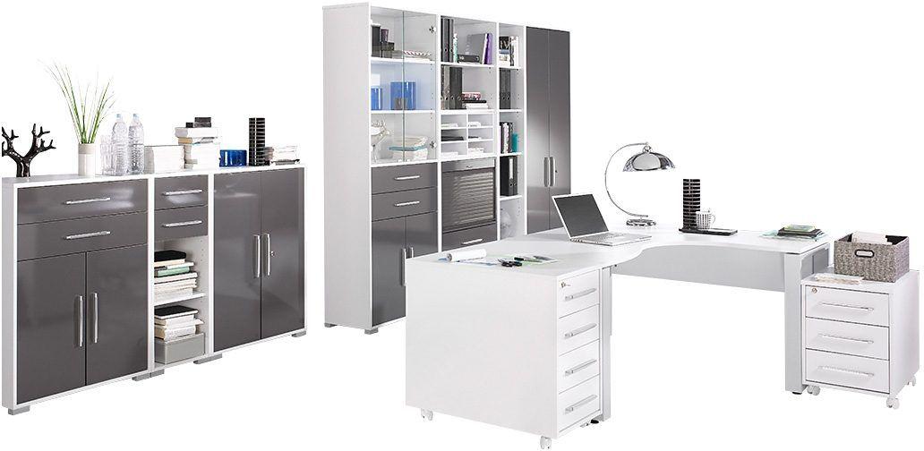 MAJA Möbel Büromöbel-Set (10-tlg.) beige, »1206«, Hochglanz Jetzt ...