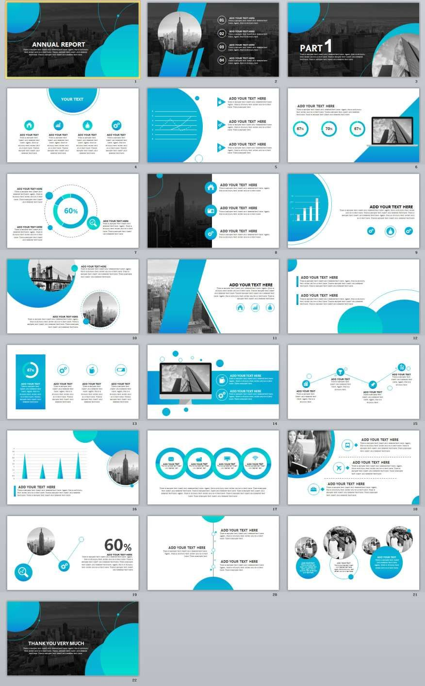 22+ Blue Annual Report PowerPoint templates