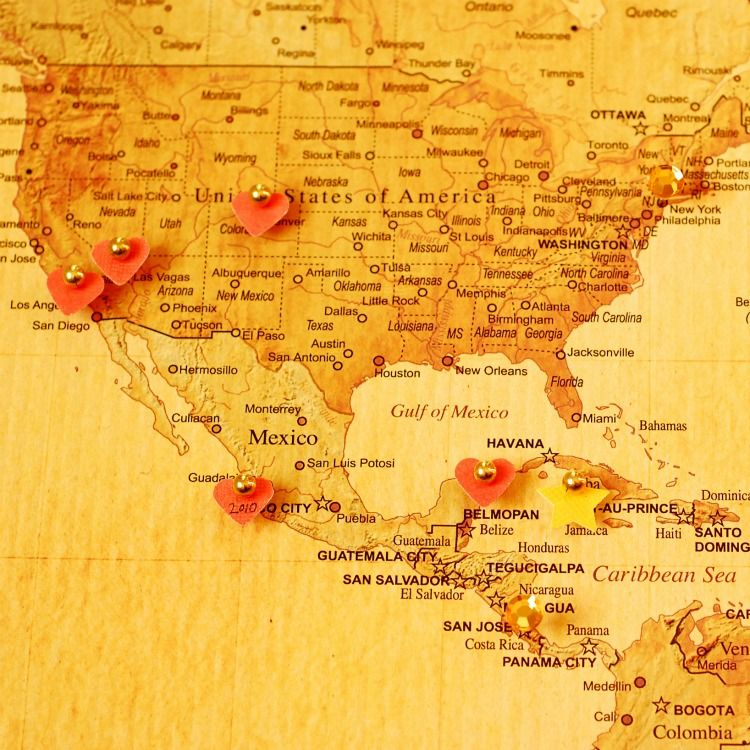 Diy travel map travel maps and craft diy travel map solutioingenieria Images