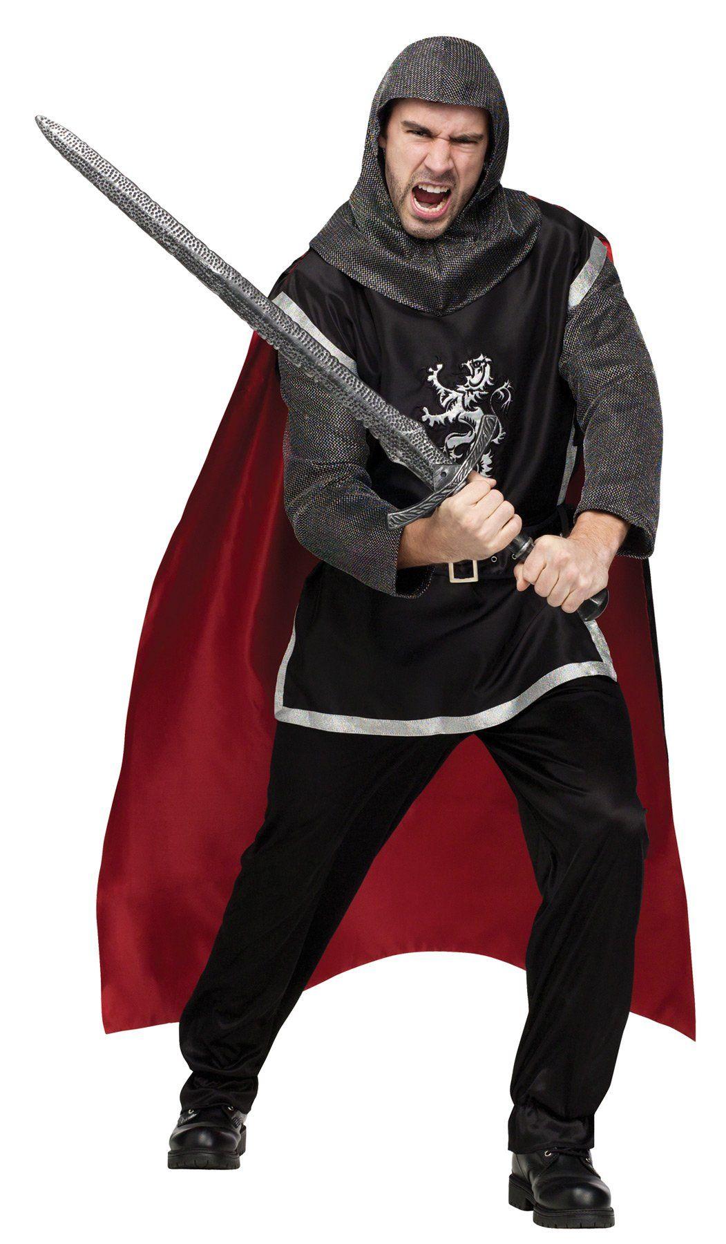 Mens Knight Medieval Warrior Fancy Dress Halloween Costume T shirt Festival Tops