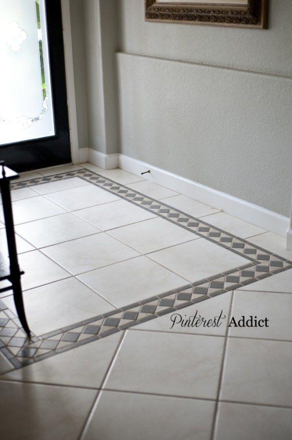 Painted Floor Tile Update Diy Pinterest Painted Floor Tiles