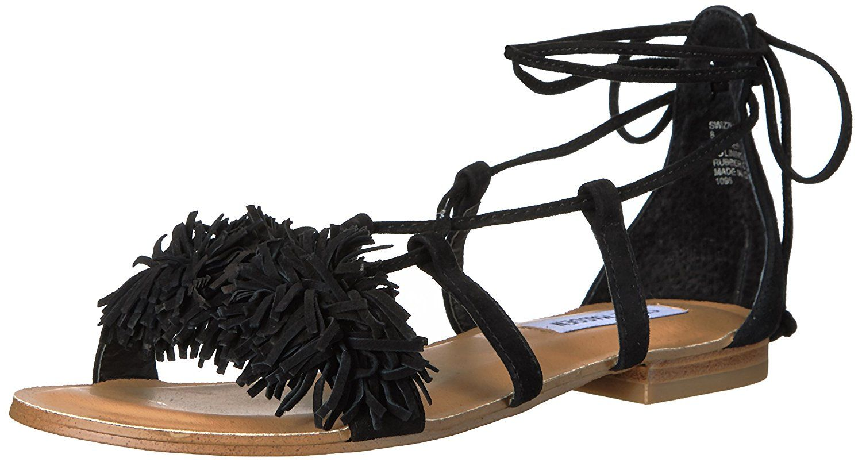 3a8bb90c89f Amazon.com | Steve Madden Women's Swizzle Flat Sandal Flats | The ...
