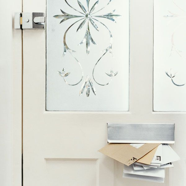 13 Thrifty Ways To Give Your House Vintage Charm Entry Doors With Glass Window Film Frosted Windows