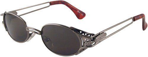 55047ea28680 Cyberpunk Steampunk Goggles Side Shield Sunglasses (Gunmetal) Sun Revival