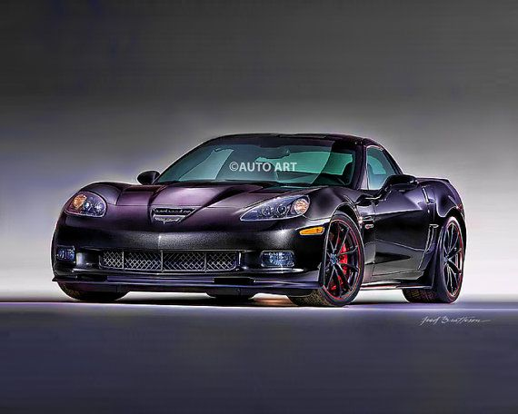 Auto Art Corvette Centennial Edition Zr1 Sports Car Print 8
