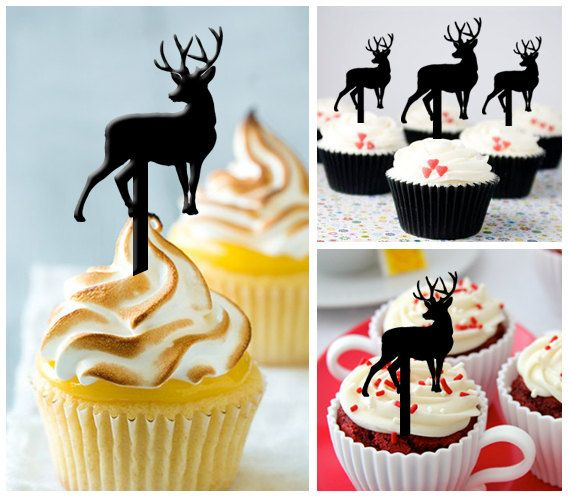 Ca210 New Arrival 10 pcs/Decorations Cupcake Topper/ by Sixday7Day