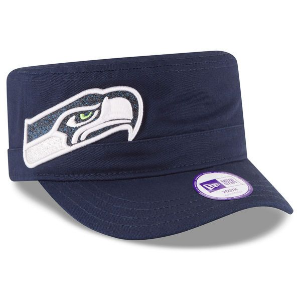 pretty nice faa82 1c6e9 ... italy girls youth seattle seahawks new era college navy team glisten  military adjustable hat your price