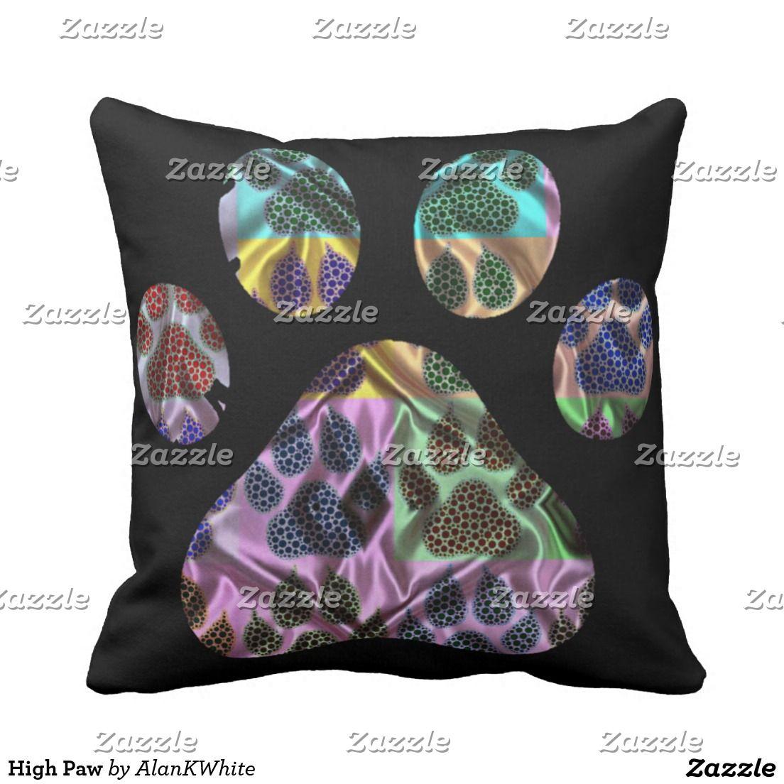 High Paw Outdoor Pillow