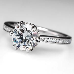 15 Carat Engagement Ring On Finger 14