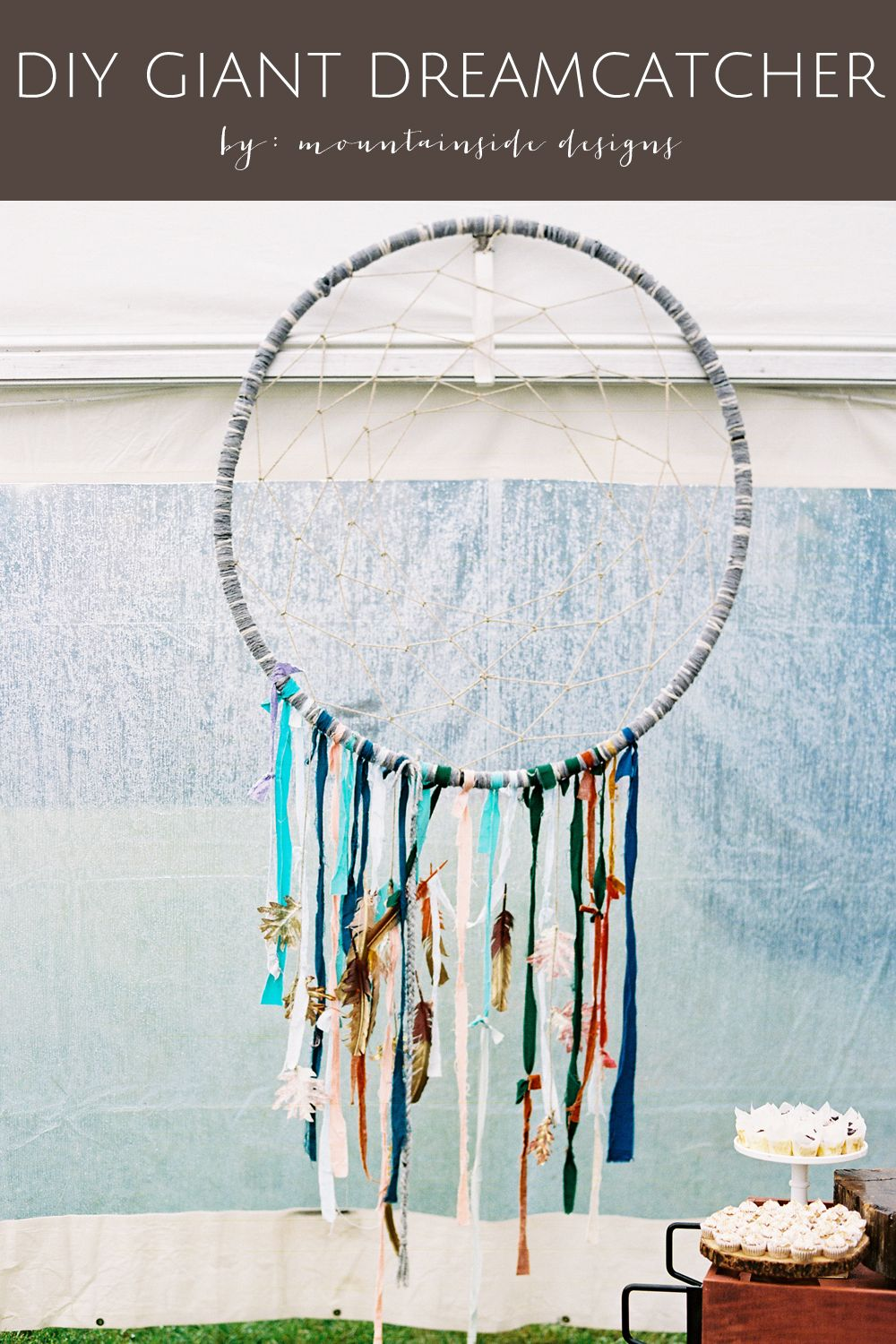 How To Make A Big Dream Catcher DIY Giant Dreamcatcher Tutorial Giant dream catcher Hula hoop 25