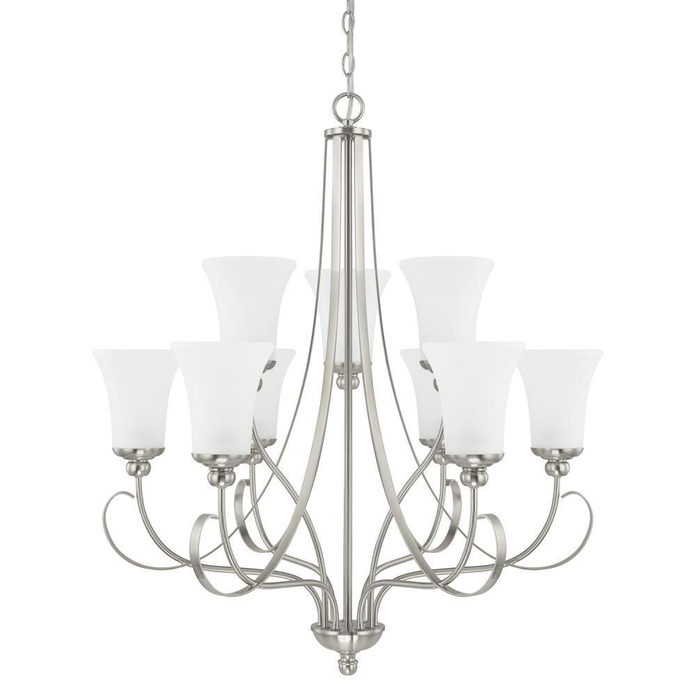 Capital lighting 414591bn 335 homeplace griffin 9 light chandelier brushed nickel