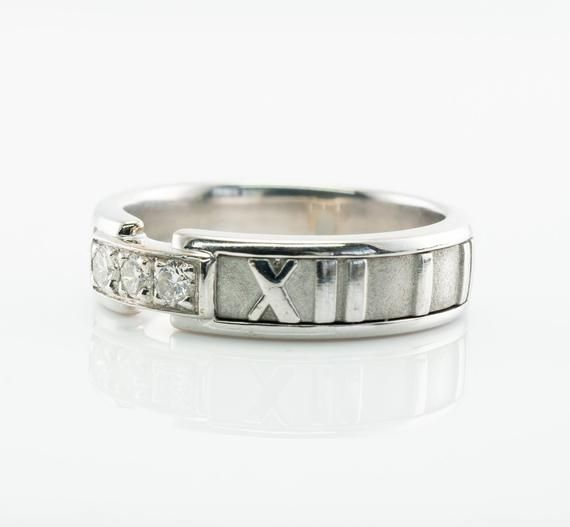 58218bf29 Tiffany and Co Atlas Natural Diamond Band Ring, 18K White Gold in ...