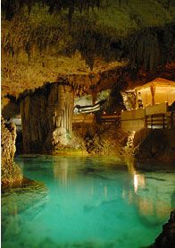 This place has a real cave on the premises that you can swim in. Grotto Bay, Bermuda