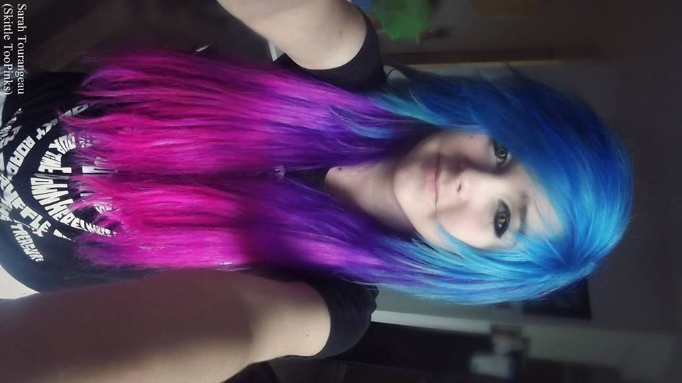 Pink And Purple Hair Styles: Blue Purple Pink Galaxy Ombre Scene Hair