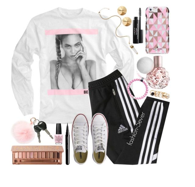 """""""okay ladies now lets get in formation"""" by itsfashion-5ever ❤ liked on Polyvore featuring adidas, Converse, Kate Spade, RAJ, GUESS, Eddie Borgo, Urban Decay, Marc Jacobs and OPI"""