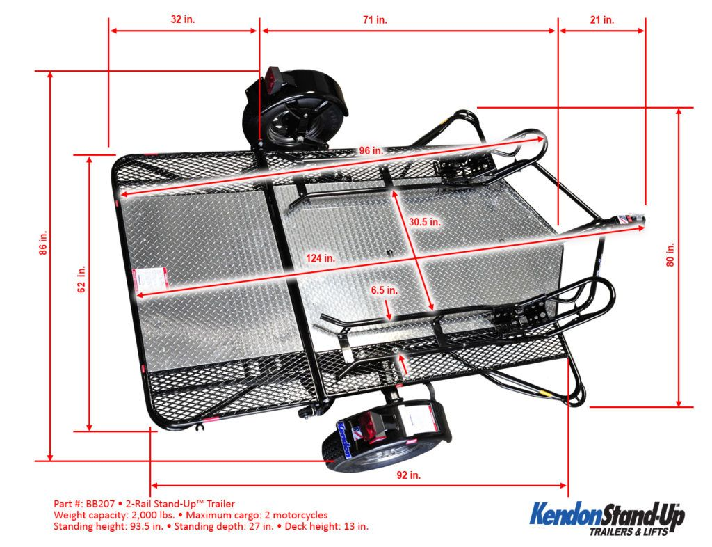 kendon dual ride up srl stand up motorcycle trailer utility rh pinterest com
