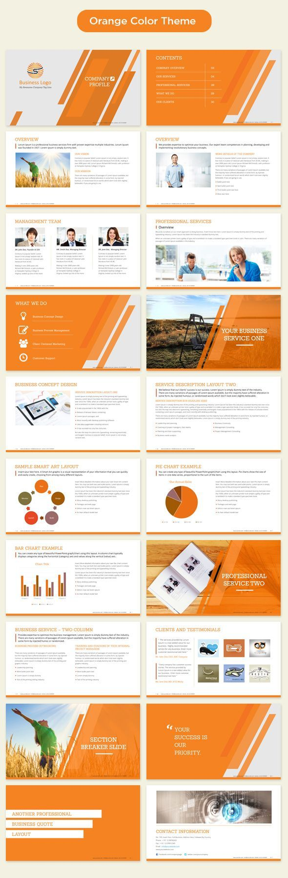 Professional Business Profile Template Company Profile Template Powerpointthe Template Is Available In 4 .