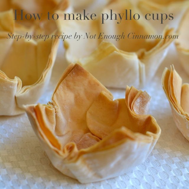 Versatile phyllo cups are the perfect vessel for sweet and savory appetizers and desserts.  Great for entertaining!  How to make phyllo cups — Step-by-step recipe