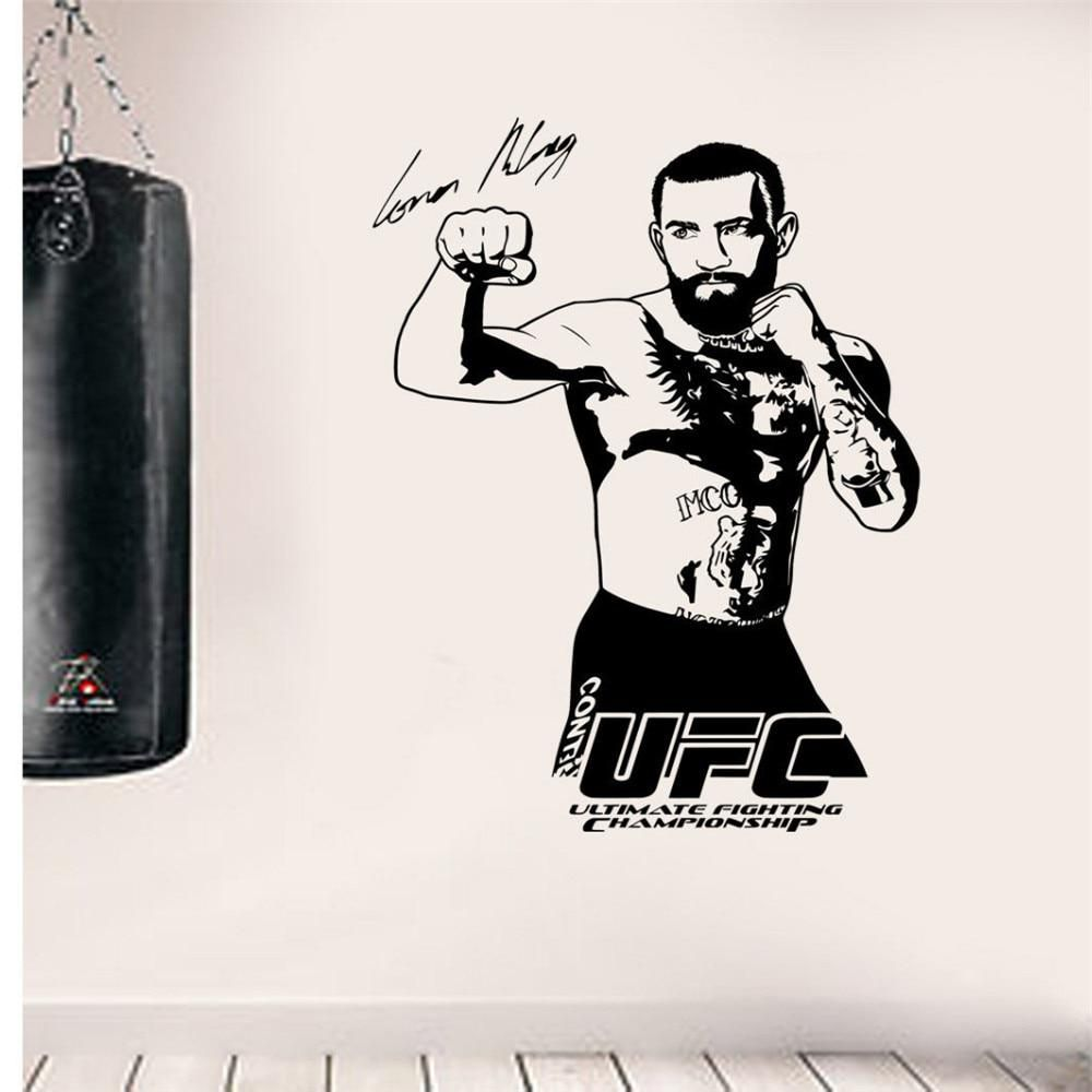 Conor Mcgregor Ufc Gym Vinyl Wall Art Sticker Boxer Sport Wall