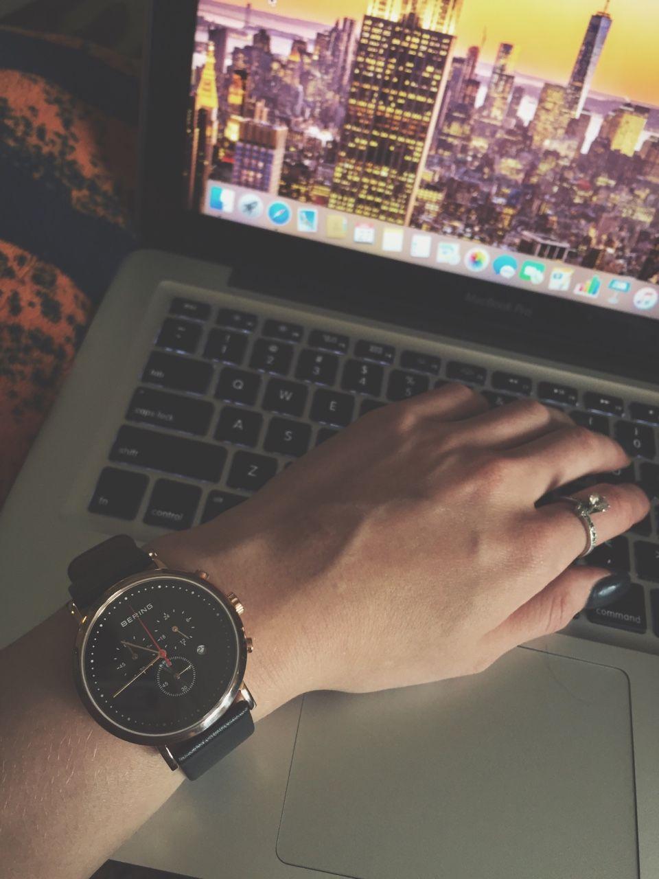 nice watch, nice laptop