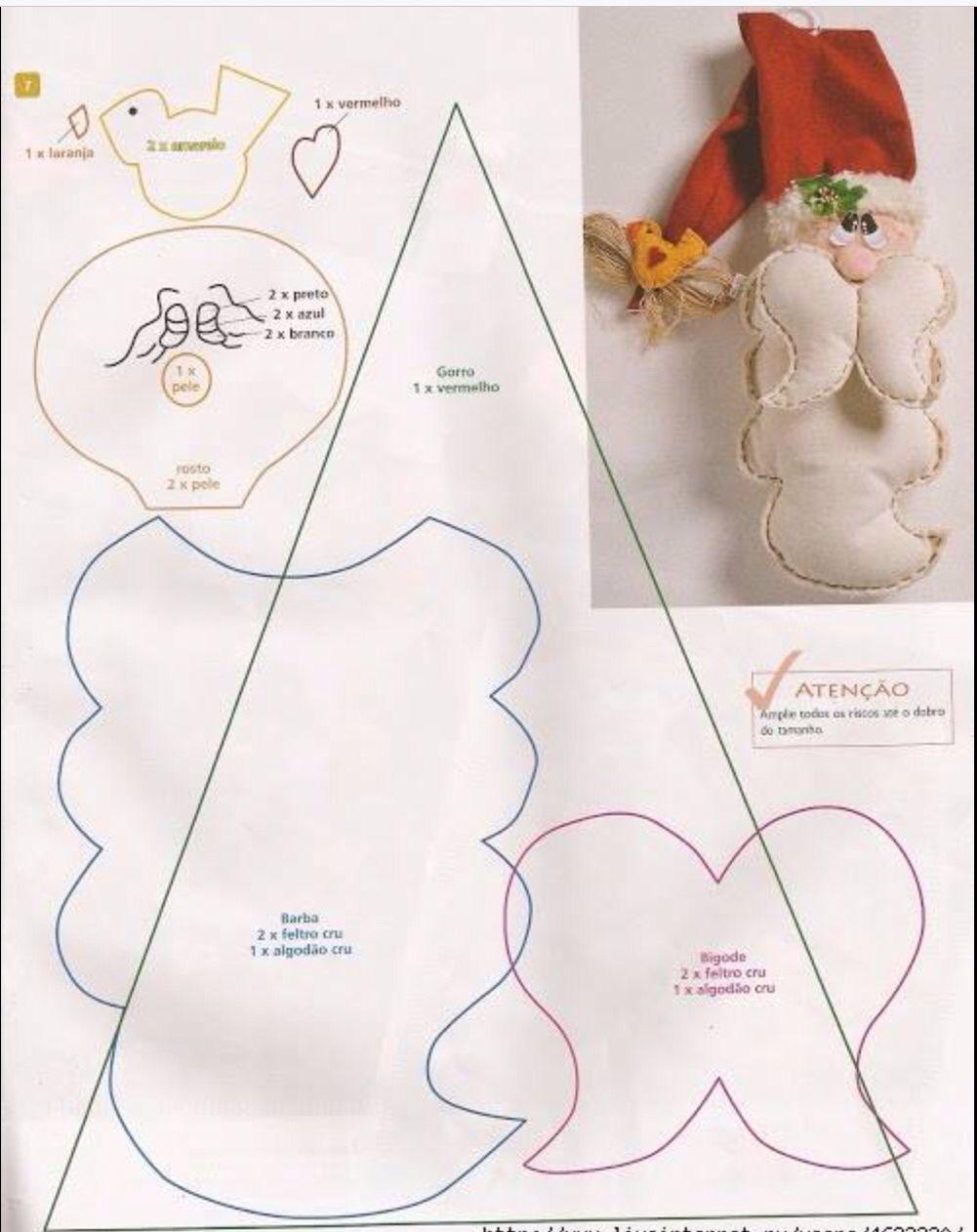 Papá Noel | Patrones | Pinterest | Navidad, Manualidades navidad y ...