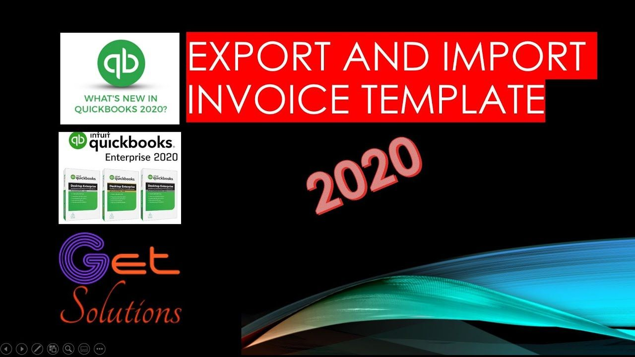 How to import and Export invoice Template in 2020