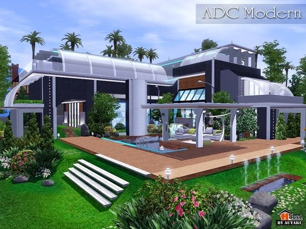 Adc Modern House By Autaki Sims 3 Downloads Cc Caboodle Sims House Sims Modern