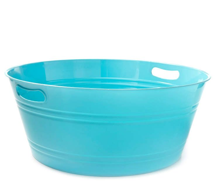 Large Turquoise Round Party Tub Big Lots Party Tub Beverage Tub Big Lots
