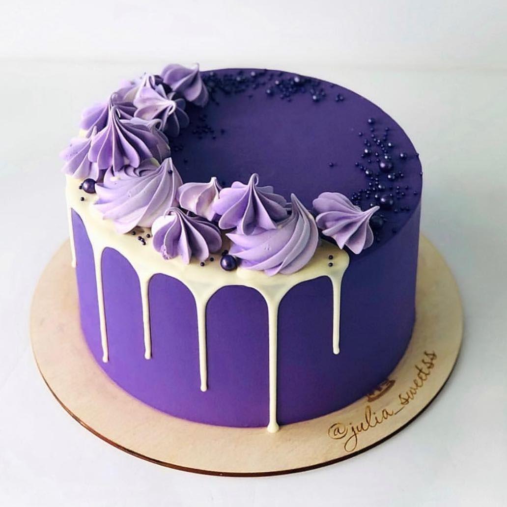Beautiful Purple Cake Cupcake Cakes Cake Cake Decorating Frosting