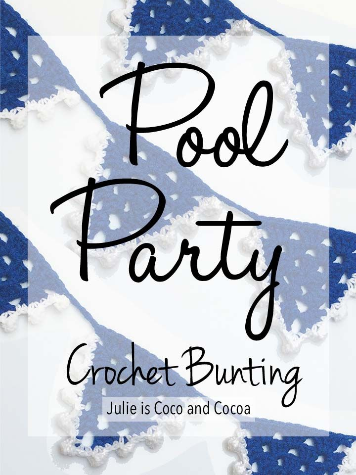 Pool party summer crochet bunting julie is coco and for Thread pool design pattern