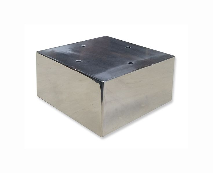 Quinn Metal Furniture Legs Are 5 X 5 X 2 1 2 H 304 Stainless Steel Sheet Metal With Plates On The Top Custom Metal Furniture Metal Furniture Furniture Legs