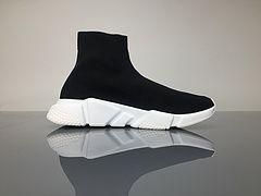 7220433004a Wonderful Fake Balenciage Stretch Mesh High Top Runner Sneaker Black ...