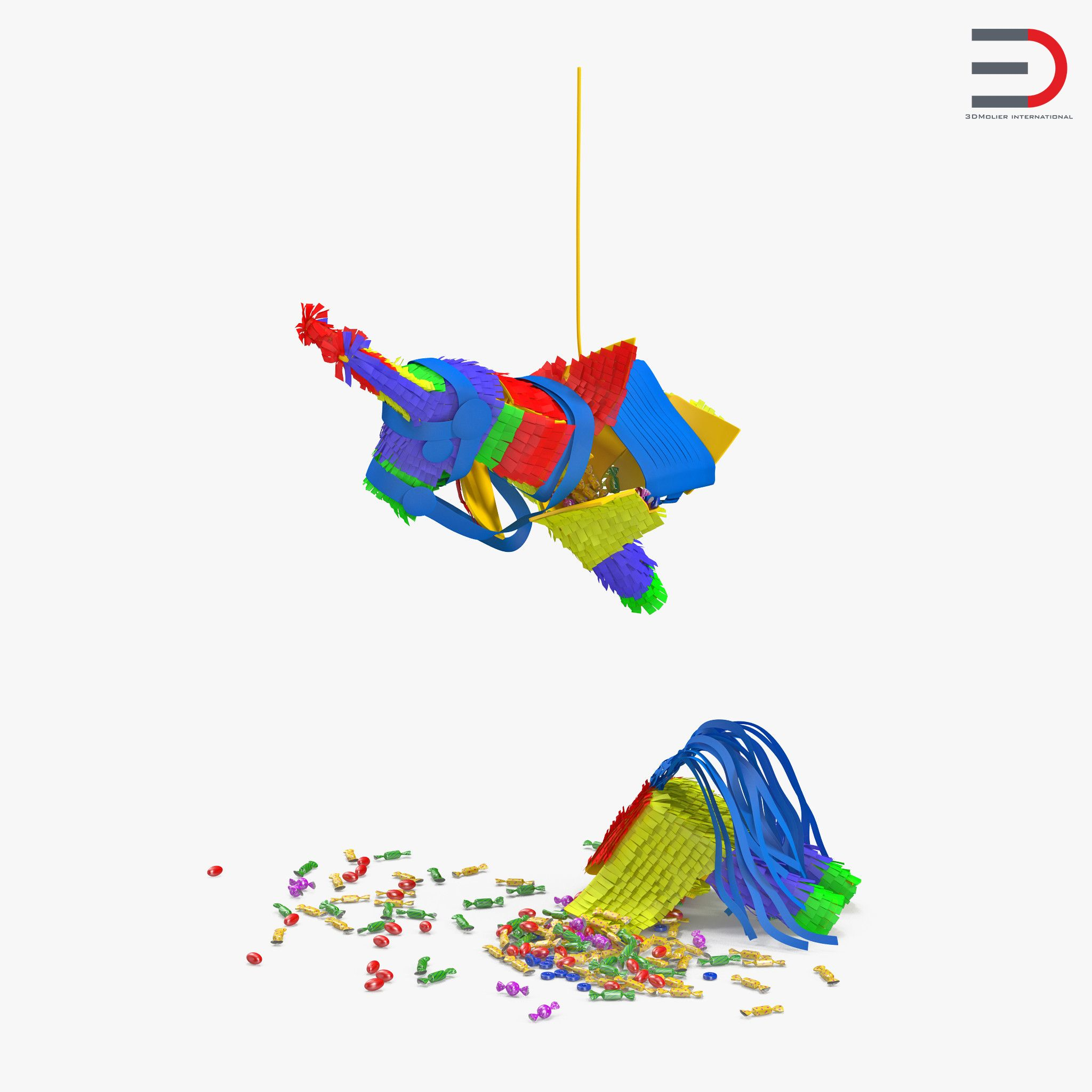 smashed donkey pinata 3d model piñata pinterest model and donkey