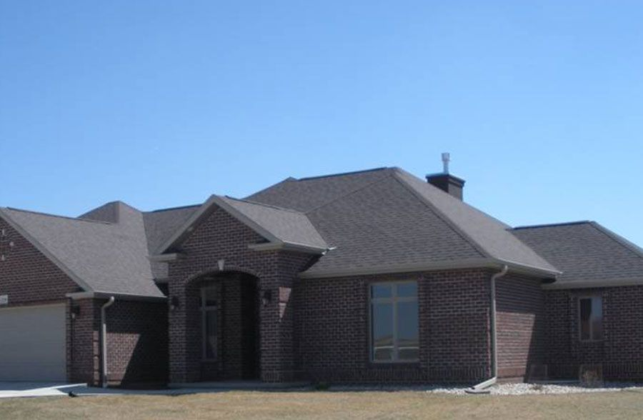 Brand New Brick Ranch Style Home With High Pitched Roof A