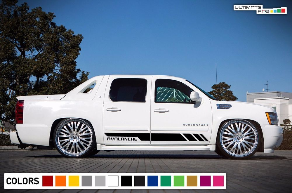 Side Door Stripes Decal Vinyl For Chevrolet Avalanche 2007 2013