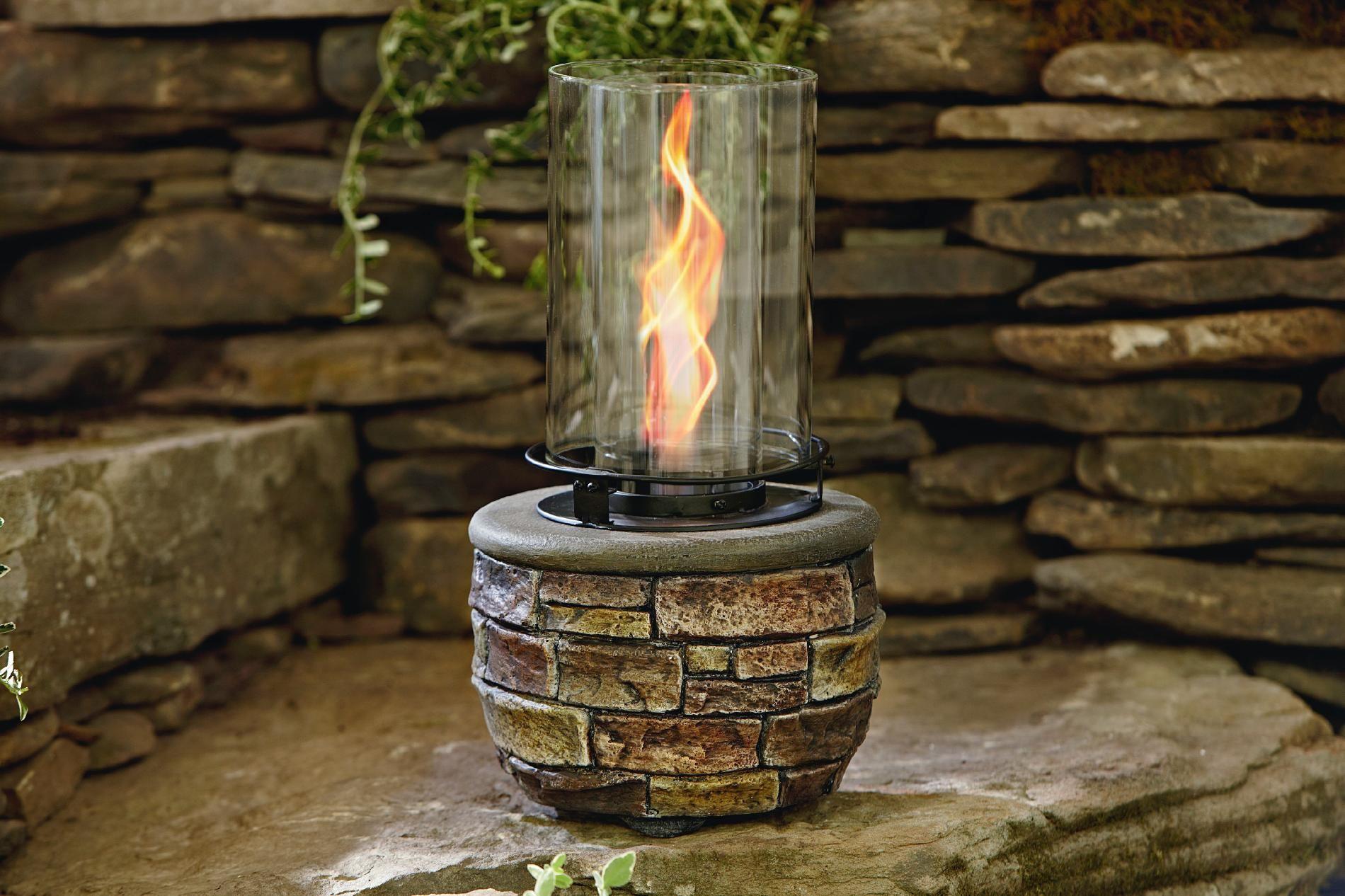 Garden Oasis Stone and Glass Gel Burner - Outdoor Living - Outdoor ...