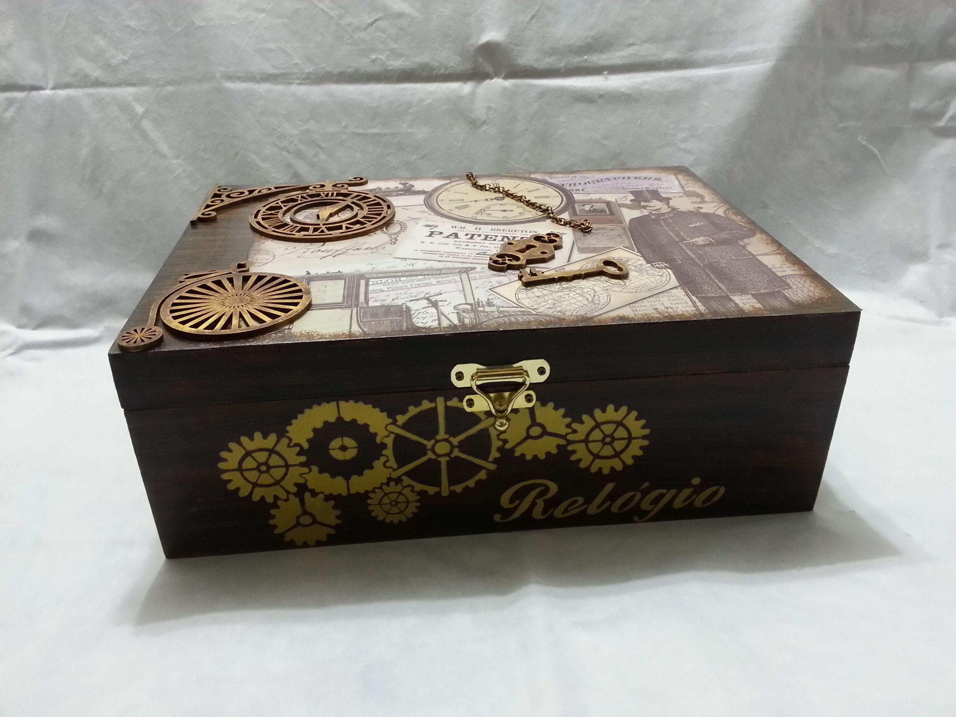 c5fb23e76a8 Porta relógio masculino Caixa Para Relogios