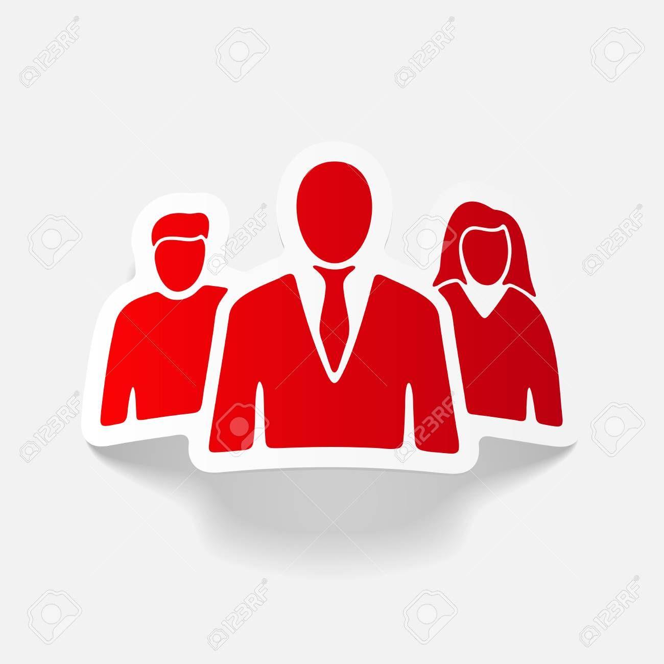 realistic design element business people Illustration