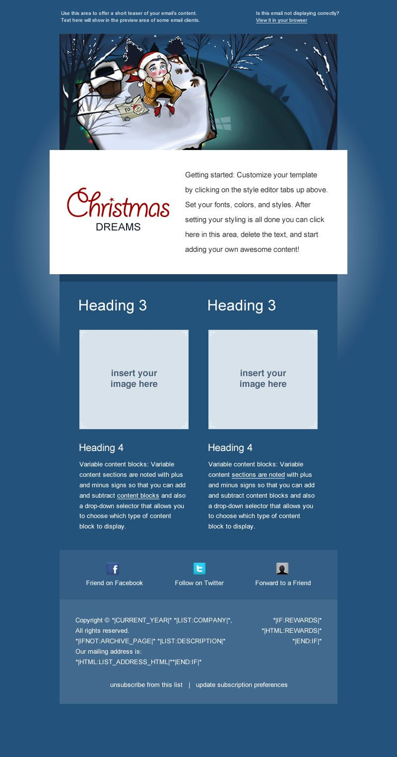 Premium Holiday Email Template For Mailchimp Com Available For Free