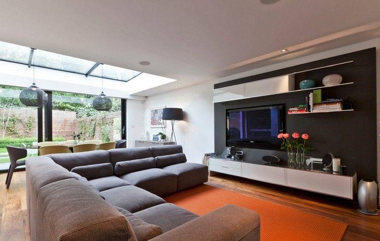meuble tv mural 2016: moderne, élégant et peu encombrant! | tvs ... - Meuble Tv Composable Design