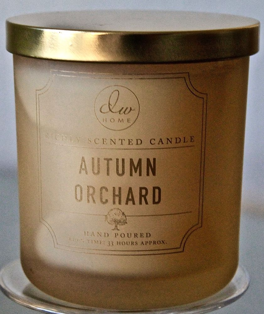 Dw Home Candle Autumn Orchard 1 Wick Gold Fog Soy Wax 90z Dw7337