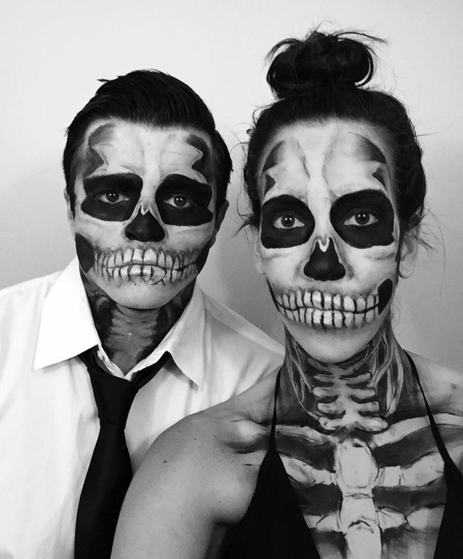 couples halloween costume skeleton makeup - Halloween Skeleton Makeup Ideas