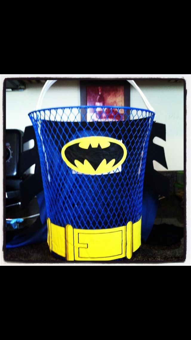 Batman easter basketwaste basket n cut outs easter ideas batman easter basketwaste basket n cut outs negle Choice Image