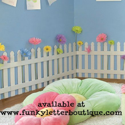 The funky letter boutique decorating a trendy garden for Funky nursery ideas