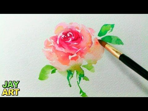 How To Paint A Loose Rose In Watercolour 6 Video Tutorials