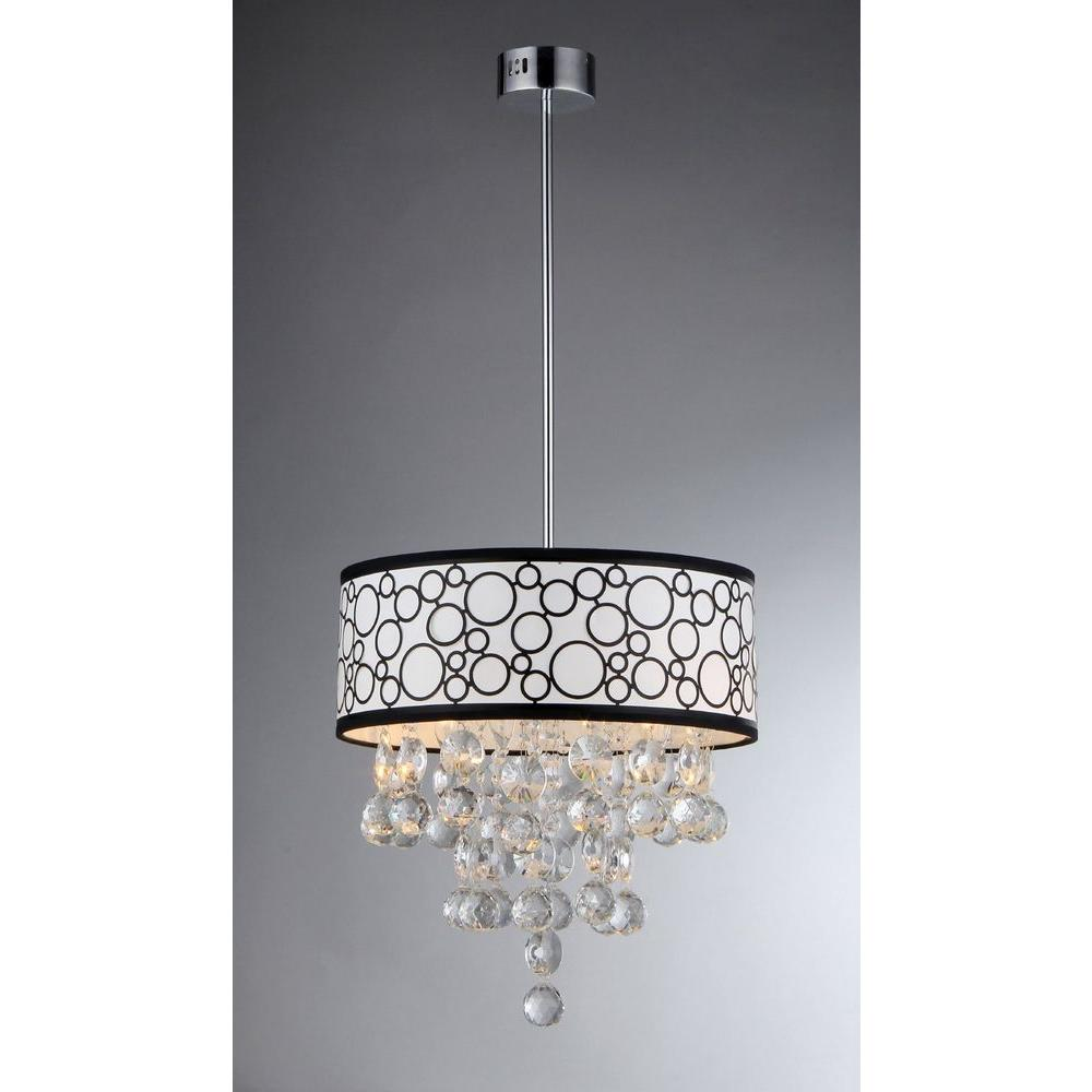 Warehouse Of Tiffany Adelaida 3 Light Chrome Crystal Chandelier Rl7892 At The Home Depot