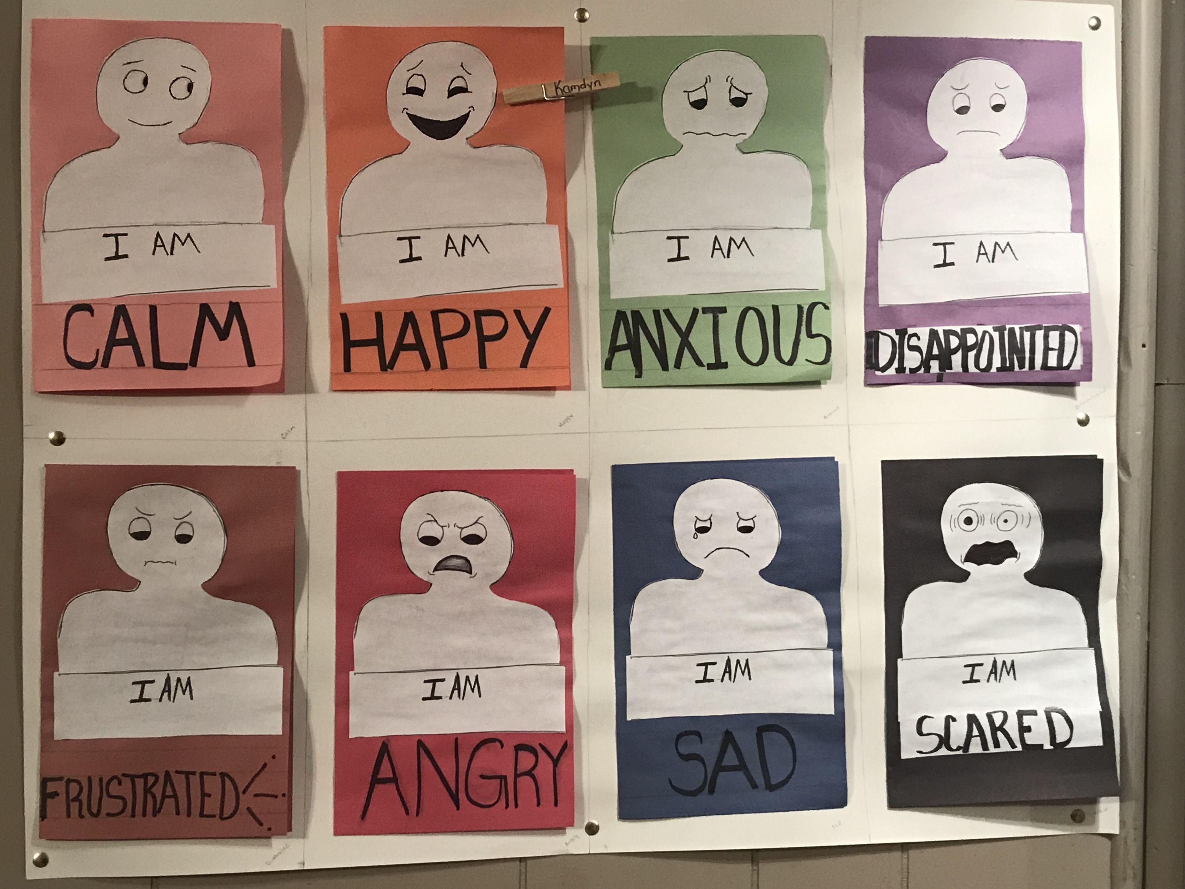 Emotion Buddy Chart For Helping Kids Identify Their