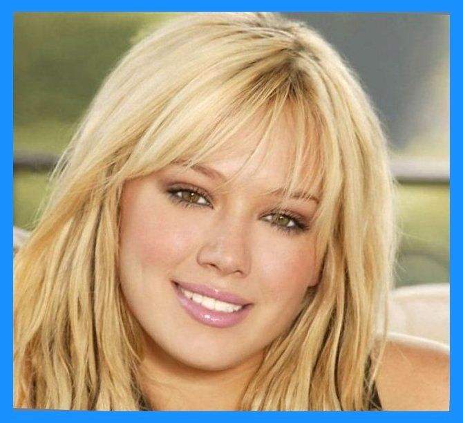 Medium Haircuts With Bangs For Round Faces Wispy Bangs Wispy Medium
